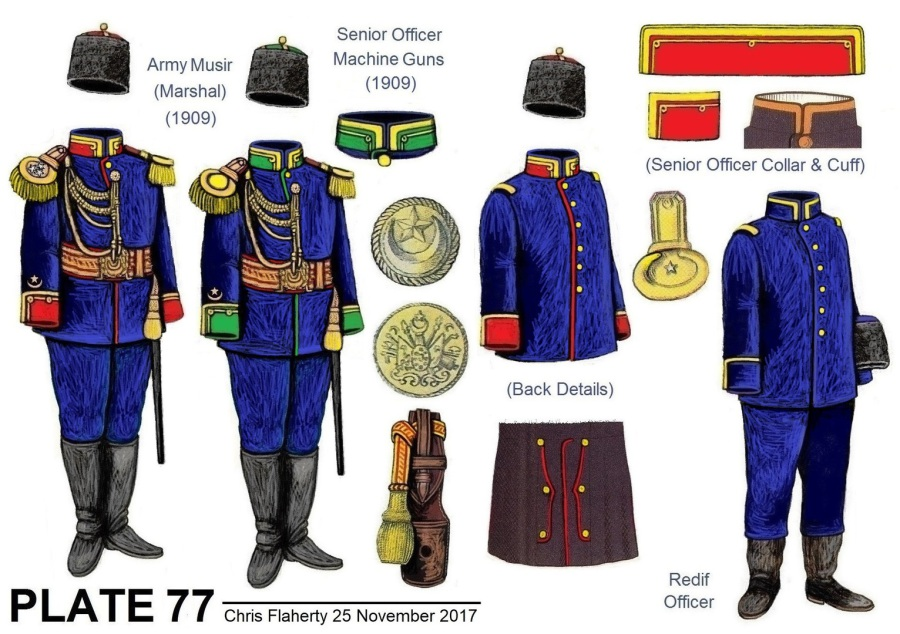 Ottoman Uniforms - 1909 TILL 1914 OTTOMAN ARMY UNIFORMS, AND BRANCH